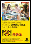 Public outdoor dining areas are smoke-free from 1 July 2016