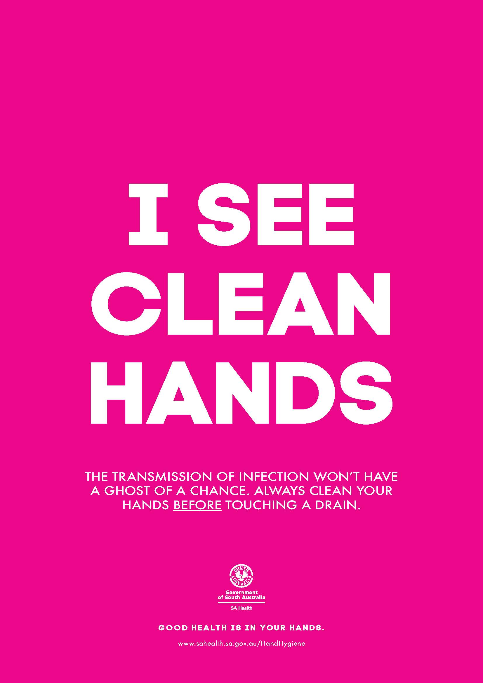Hand hygiene poster - I see clean hands