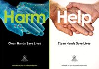 Hand hygiene poster - Clean hands save lives